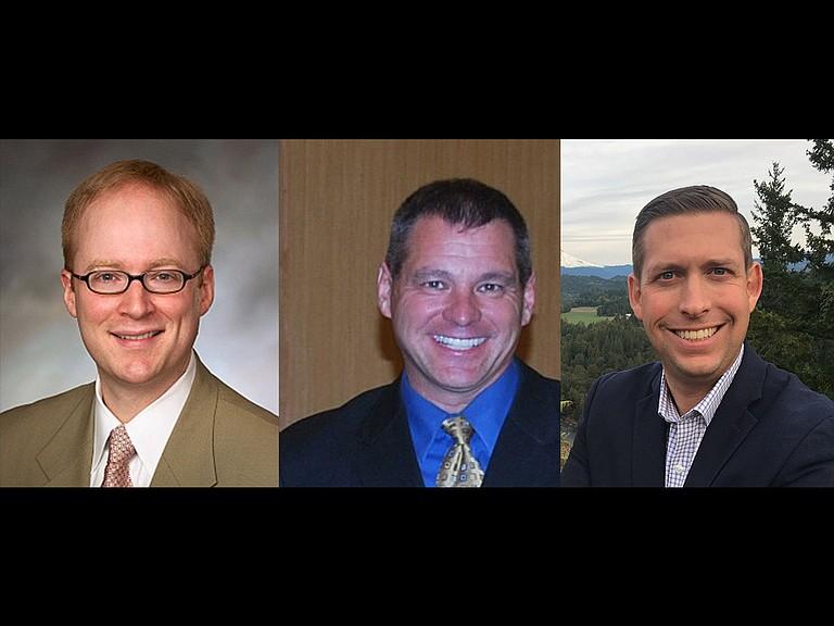 House District 52 Candidates (left to right) Erick Haynie, Jeff Helfrich, Stan Pulliam.
