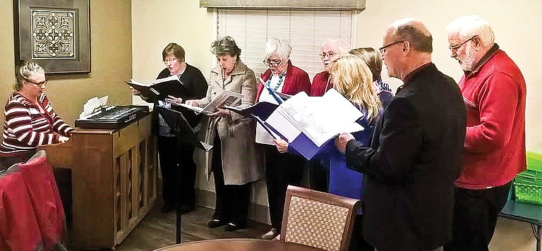 The Lower Valley Choir recently gave a concert to the residents at Sunnyside Assisted Living. The newly formed group has two performances Saturday during the Lighted Farm Implement Parade weekend – from 1-2 p.m. at the Sunnyside Museum and from 7-8 p.m. at Holy Trinity Episcopal Church.