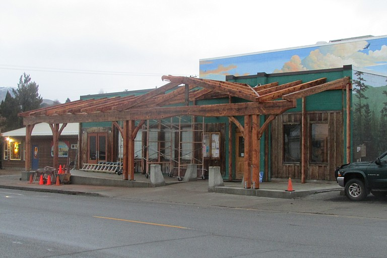 Progress continues on the street front project at the Community Cultural Center, 411 S. Western Ave.