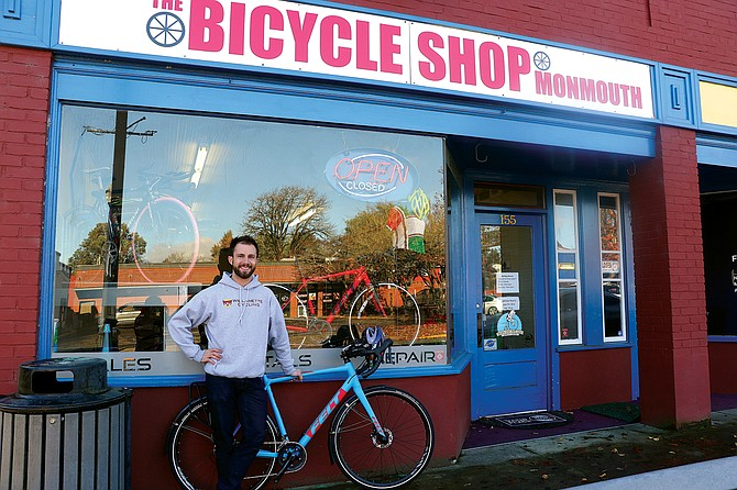 Brendon Gallant is one of the two co-owners of The Bicycle Shop in Monmouth.