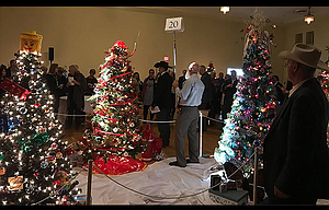 The 2017 Festival of Trees live auction brought bidders to the ballroom floor Friday night at The Dalles Civic Auditorium.