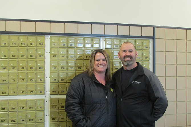 Cory and Lacy Howe will open their new UPSfranchise store in the Omache Shopping Center today, Dec. 6.