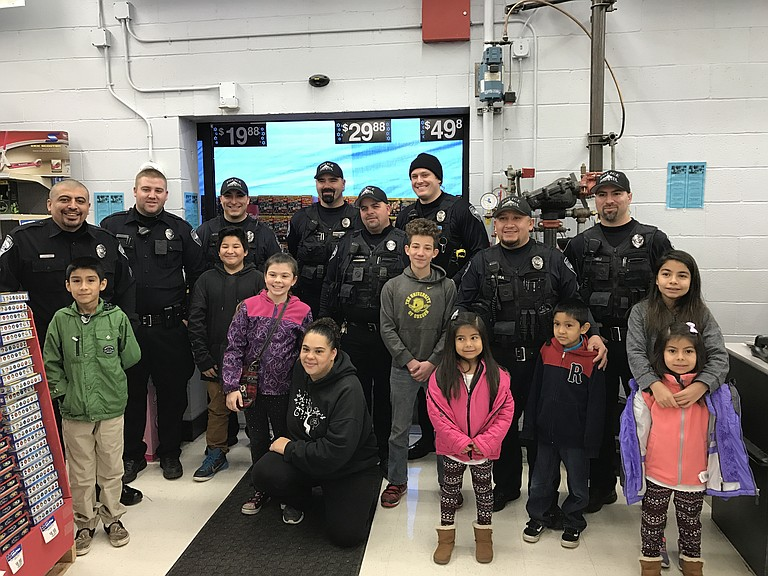 Officers, from left, are Juan Pulido, Brent Goe, Jeremy Cervantes, Isaac Miller, Erin Mason, Houston Webb, Sal Rivera, and Don Cheli.