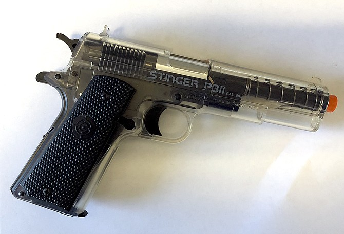 School officials found an Airsoft gun in a locker at LaCreole Middle School on Dec. 12.