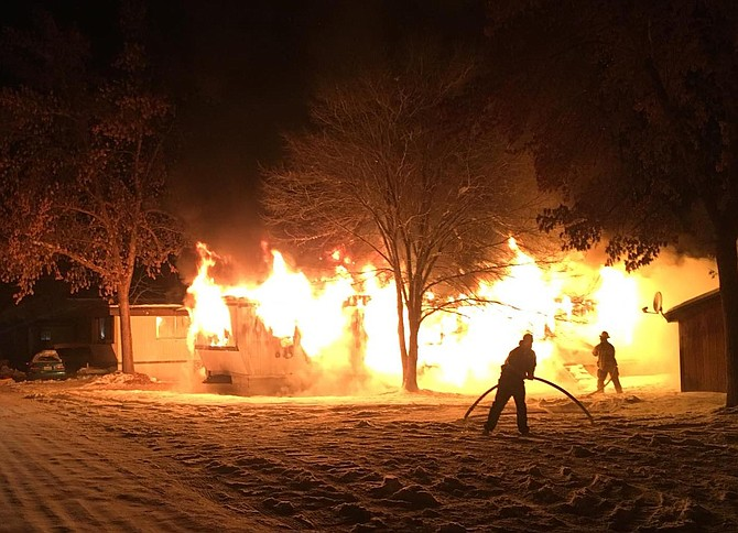 Fire crews from Okanogan County Fire District No. 6 responded to a fully-involved structure fire late Saturday night.