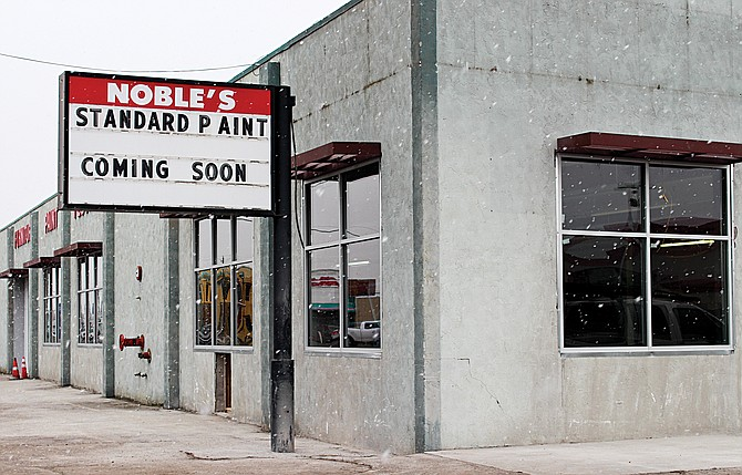 With the addition of new windows, the exterior of the old Nobles Paint and Furniture Store on Yakima Valley Highway is taking on a new look. The new tenant, Standard Paint of Sunnyside, is expected to move into the building in the new year.