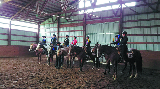 """Melissa Sexton's Youth Equestrian Development Association (YEDA) riders competed in their first show in October at Sexton's Okanogan ranch, 1726 Old Highway 97. They performed """"very successfully,"""" Sexton said."""
