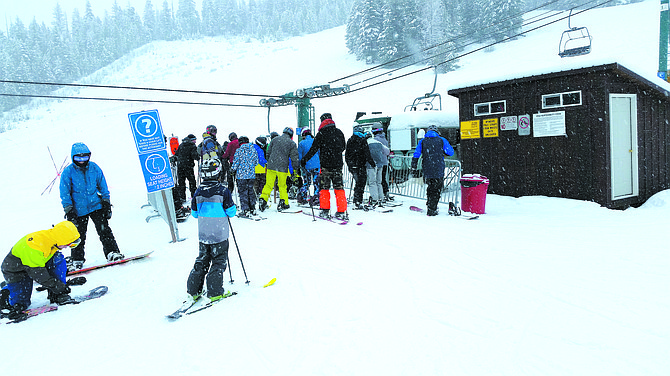Lines were short early Dec. 29 for the opener at the Loup Loup Ski Bowl.