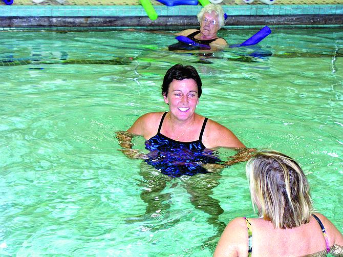 Tina Paul taught an aerobics class during her tenure at the Dallas Aquatic Center.