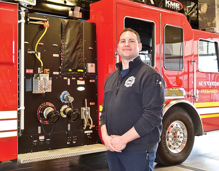 Luke Flodin is the latest addition to the Sunnyside Fire Department. He is an EMT Paramedic with a college degree. He has firefighting experience and last was employed by an ambulance service in Yakima. He came aboard in Sunnyside in December.