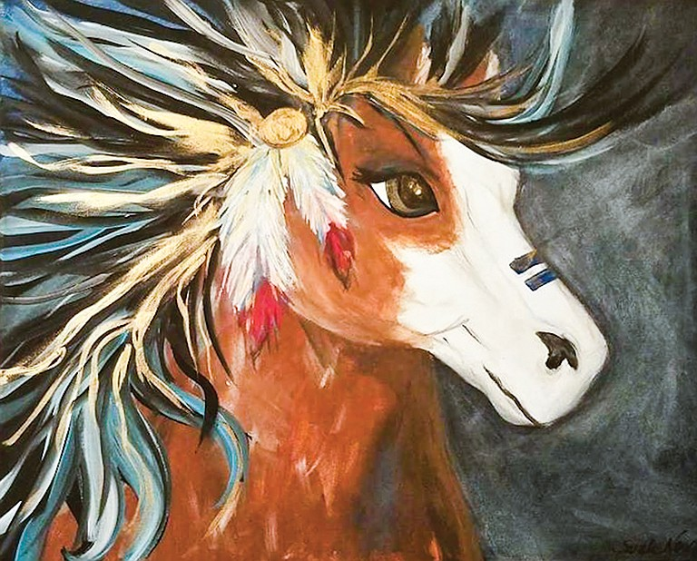 """""""The War Horse"""" is the featured art to be offered at a painting night to be held in Pasco."""