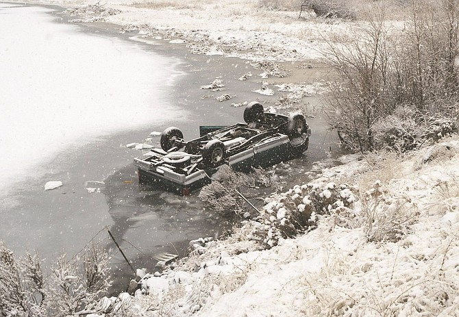 A Coulee City man died Jan. 11 when his pickup truck went off Highway 17 about 11 miles north of Soap Lake and went into Lake Lenore.