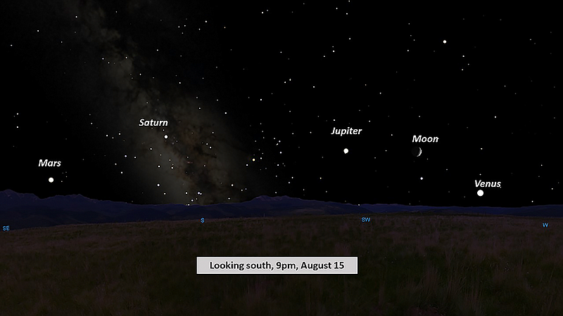 planets meteor shower highlight aug sky the dalles chronicle