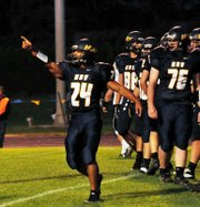 Highlights of Hood River Valley's 35-28 win over Sandy to open the 2012 football season.