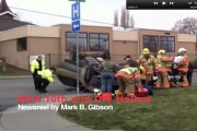 Newsreel, two-vehicle rollover accident Wednesday afternoon, Jan. 23.
