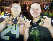 More than 60 people turned out Wednesday night for the Seahawks Rally at Hometown Pizza in Omak.