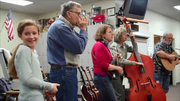 The band Buffalo Hump Syndicate performed for Grangeville Elementary Middle School students Feb. 25.