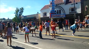 More than 2,000 people participated in the Super Egg Toss on Grangeville's Main Street during Border Days 2014. Here, super tossers line the street and take a stab at not getting egg on their faces July 2.