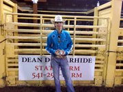 Horizon Christian School senior RJ Hicks' winning ride at the Fort Dalles Days Rodeo.