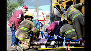 The North Central Healthcare Coalition organized a regional mass casualty exercise for area EMS responders at Kamiah's Riverfront Park on Saturday, April 25. The exercise scenario involved an overturned school bus with 28 patients, adults and children, needing triage, treatment and transport to area hospitals.