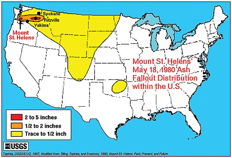Mount St Helens Map 37 years after Mount St. Helens eruption, Lind effect explained  Mount St Helens Map